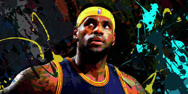 Basketball Painting - Lebron by Richard Day