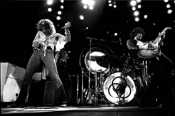 Led Zeppelin Photograph - Led Zeppelin 1973 by James Fortune