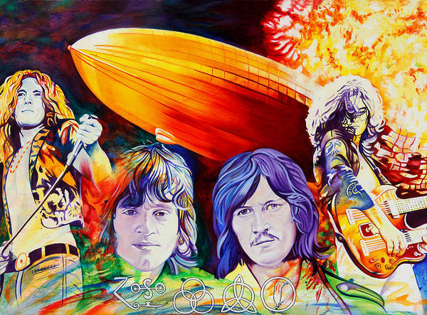 Jimmy Page Painting - Led Zeppelin by Joshua Morton