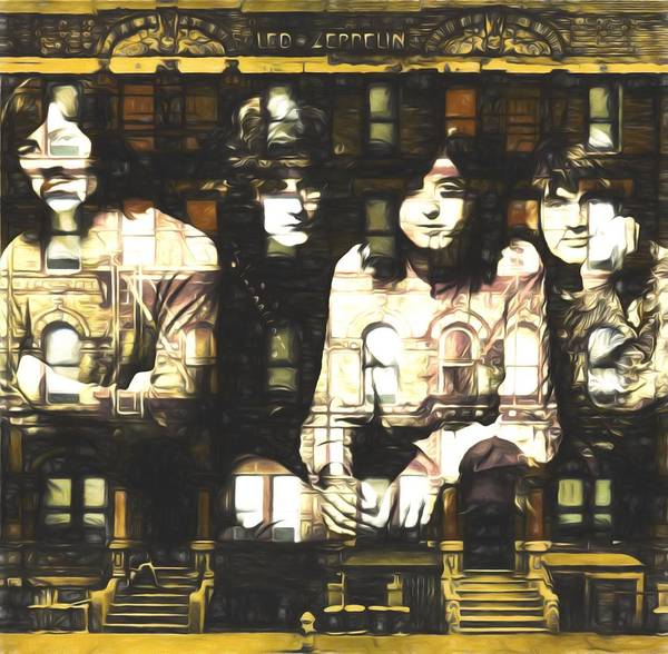 Jimmy Page Painting - Led Zeppelin Physical Graffiti by Dan Sproul