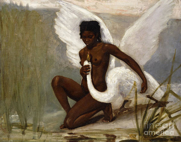 Wall Art - Painting - Leda And The Swan by Henri Paul Motte