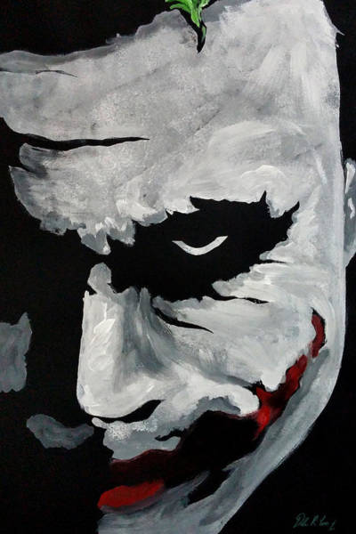 Painting - Ledger's Joker by Dale Loos Jr