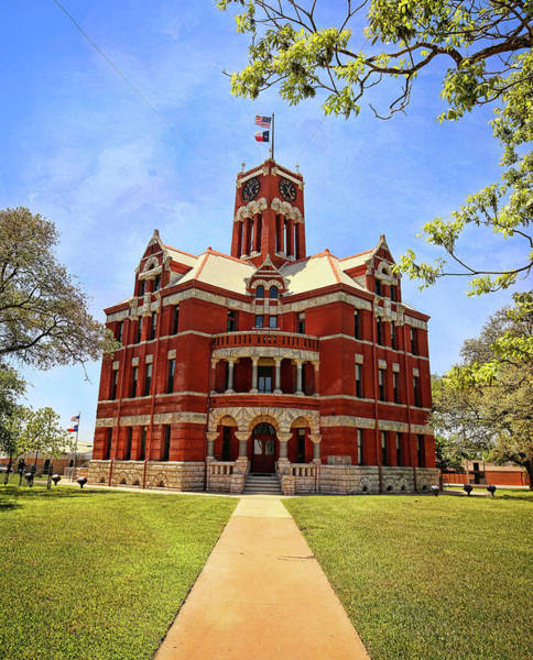 Wall Art - Photograph - Lee County Courthouse Giddings Texas Vertical 1 by Judy Vincent