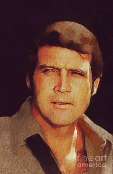 Major Painting - Lee Majors, Hollywood Legend by Mary Bassett