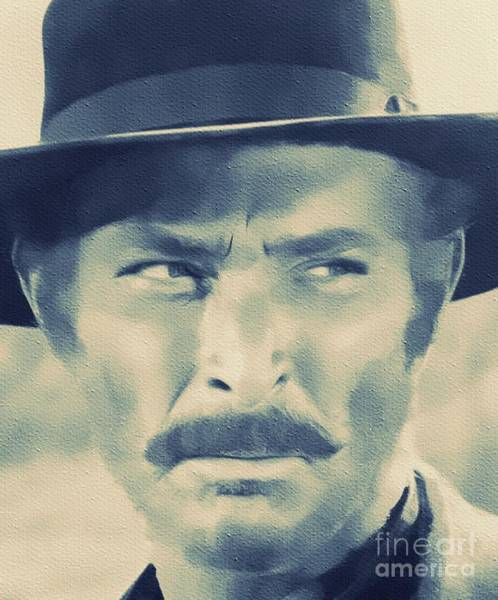 Ugly Painting - Lee Van Cleef, Hollywood Legend by Mary Bassett