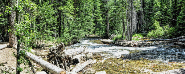 Photograph - Lee Vining Creek Pano 2 by Joe Lach