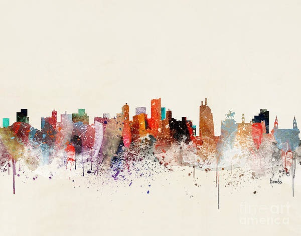 Wall Art - Painting - Leeds Skyline by Bri Buckley