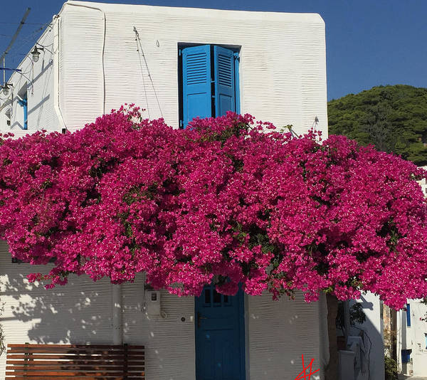 Photograph - Lefkes Mountain Hause Paros Island  by Colette V Hera  Guggenheim