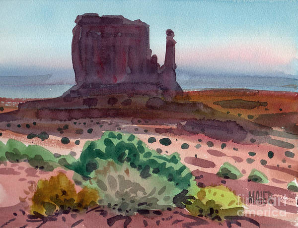 Monument Valley Painting - Left Mitten 2006 by Donald Maier