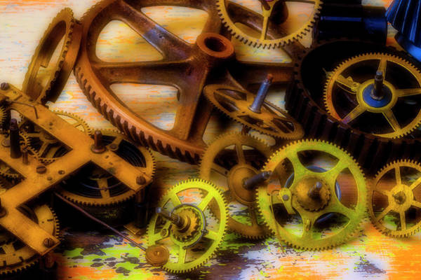 Deterioration Photograph - Left Over Gears by Garry Gay