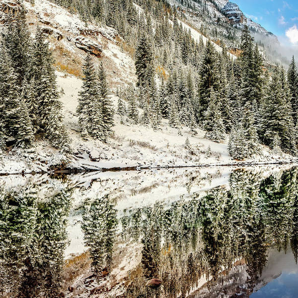 Photograph - Left Panel 1 Of 3 - Maroon Bells Mountain Landscape Panoramic - Aspen Colorado by Gregory Ballos