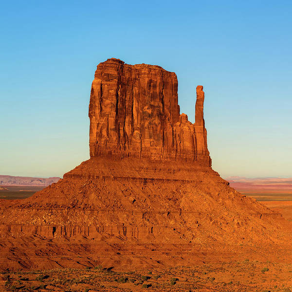 Photograph - Left Panel 1 Of 3 - Monument Valley Buttes Panoramic Landscape At Sunset by Gregory Ballos