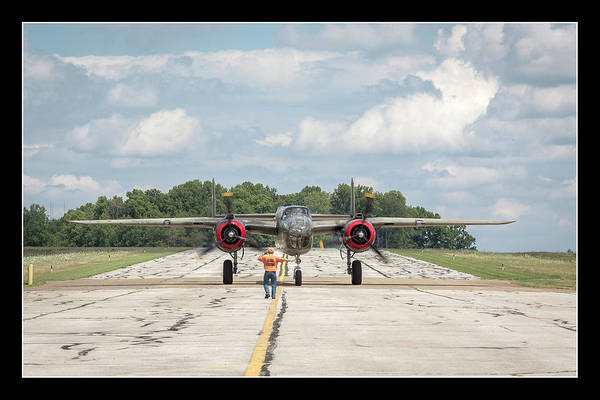 Photograph - Left Turn - B-25 by Jack R Perry