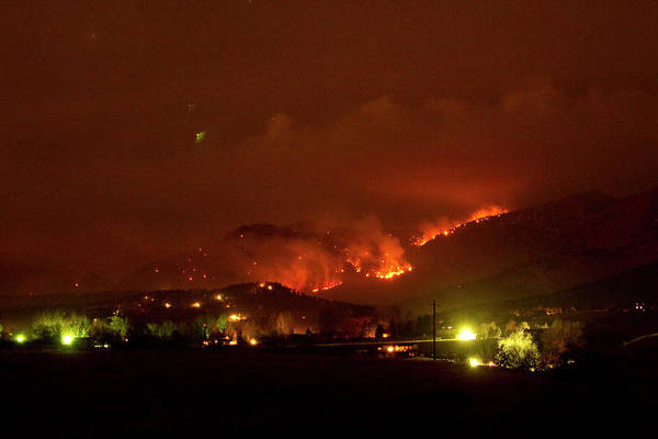 Photograph - Lefthand Canyon Wildfire Boulder County Colorado 3-11-2011 by James BO Insogna