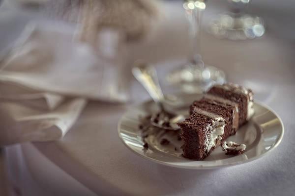 Wedding Cake Photograph - Leftover Wedding Cake by Rick Berk
