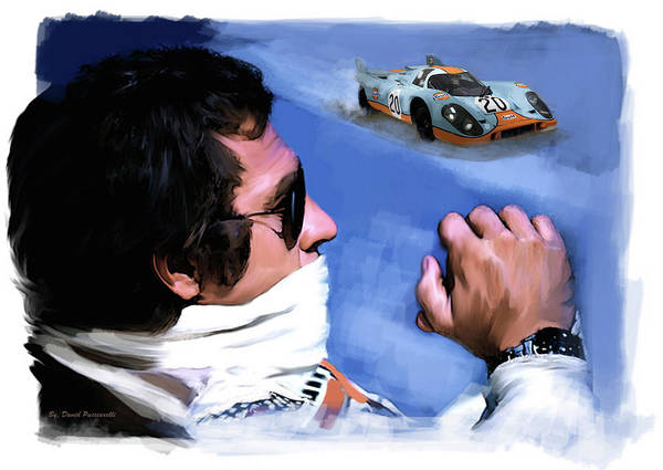 Painting -  Legacy Le Mans Steve Mcqueen by Iconic Images Art Gallery David Pucciarelli