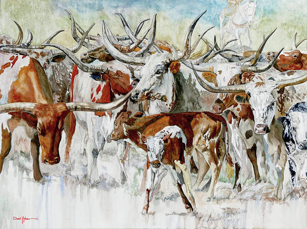 Wall Art - Mixed Media - Legacy Of The Longhorn by Daniel Adams