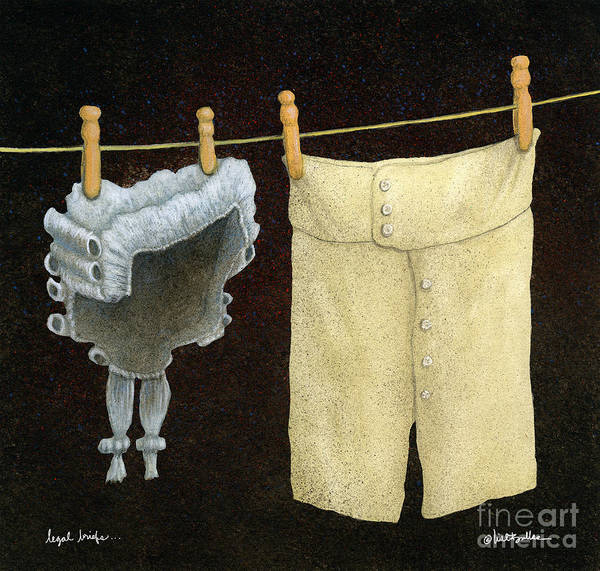 Clothesline Painting - Legal Briefs... by Will Bullas