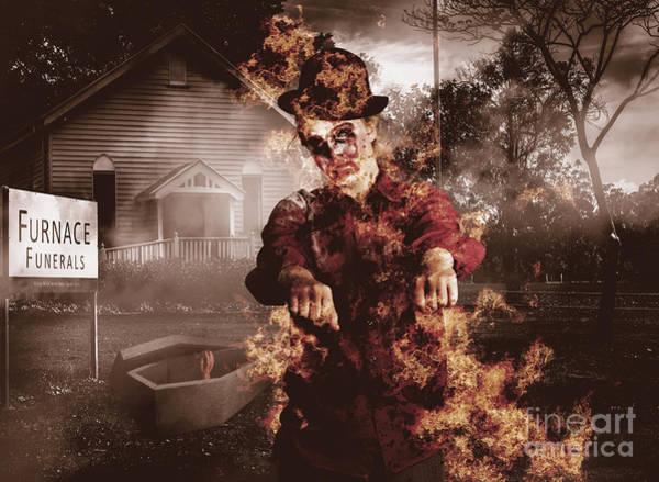 Photograph - Legend Of The Furnace Funerals Fire by Jorgo Photography - Wall Art Gallery