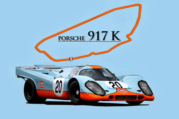 Wall Art - Digital Art - Legendary Porsche by Peter Chilelli