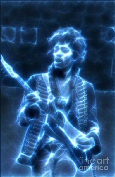 Best New Artist Digital Art - Legends Of Rock - Jimi Hendrix - Electric Voodoo by Scott D Van Osdol
