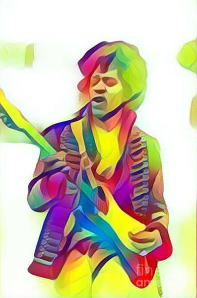 Best New Artist Digital Art - Legends Of Rock - Jimi Hendrix - Wind Cries Mary by Scott D Van Osdol