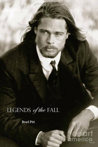 St Louis Cardinals Mixed Media - Legends Of The Fall, Brad Pitt by Thomas Pollart