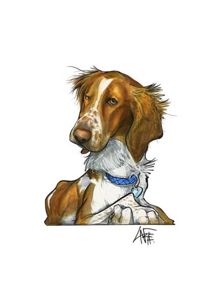 Pet Portrait Drawing - Leger 3018 by John LaFree