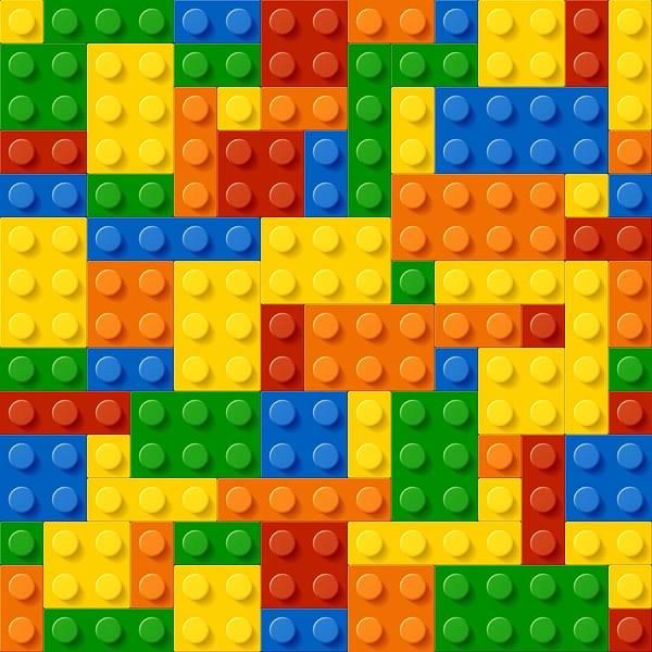 Bricks Digital Art - Lego Bricks by Long Shot