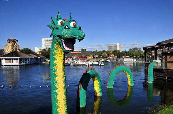 Wall Art - Photograph - Lego Dragon Downtown Disney by David Lee Thompson
