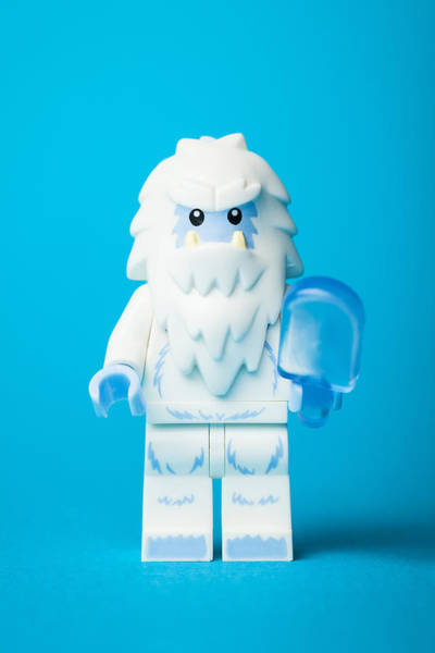 Myth Wall Art - Photograph - Lego Yeti by Samuel Whitton