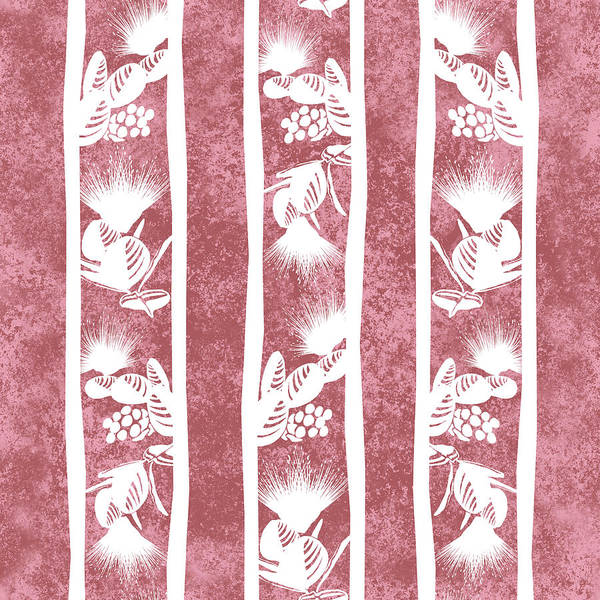 Digital Art - Lehua Stripes  Dusty Cedar by Karen Dyson