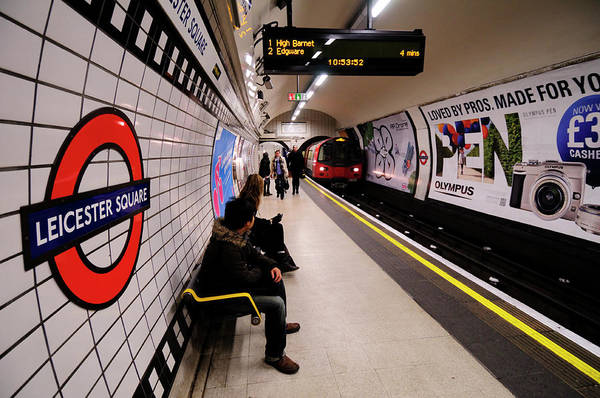 Wall Art - Photograph - Leicester Square Tube Station by Liz Pinchen