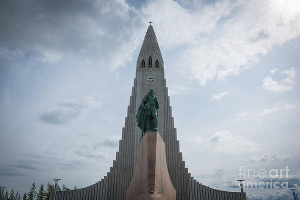 Reykjavik Photograph - Leif Erikson Iceland Statue by Michael Ver Sprill