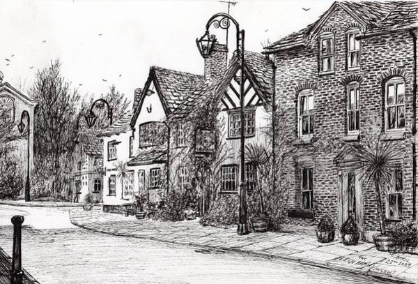 Building Drawing - Leigh Arms Prestbury by Vincent Alexander Booth