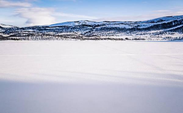 Photograph - Leirbotnvannet Frozen Lake Alta Finnmark Norway by Adam Rainoff