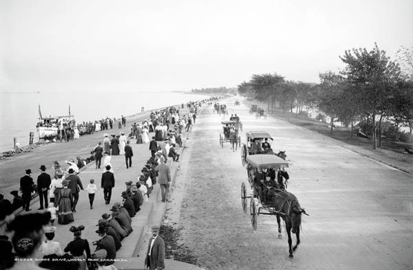 Wall Art - Photograph - Leisure On Lake Shore Drive - Chicago 1905  by Daniel Hagerman