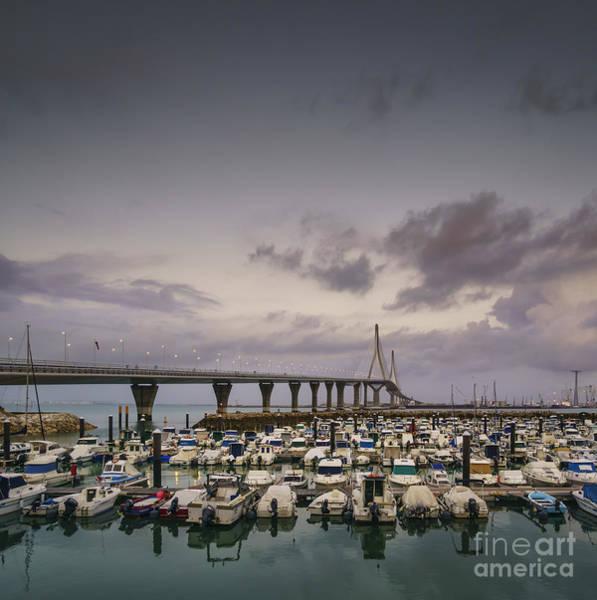 Photograph - Leisure Port Under 1812 Bridge Cadiz Spain by Pablo Avanzini