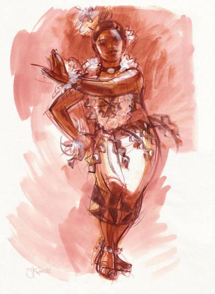 Painting - Lelei, Dancer Of Tonga by Judith Kunzle