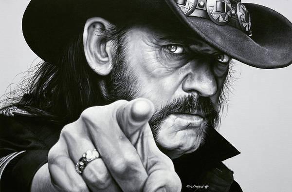Bass Guitar Painting - Lemmy by Kim Crosland