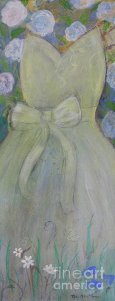 Painting - Lemon Chiffon Dress by Robin Maria Pedrero