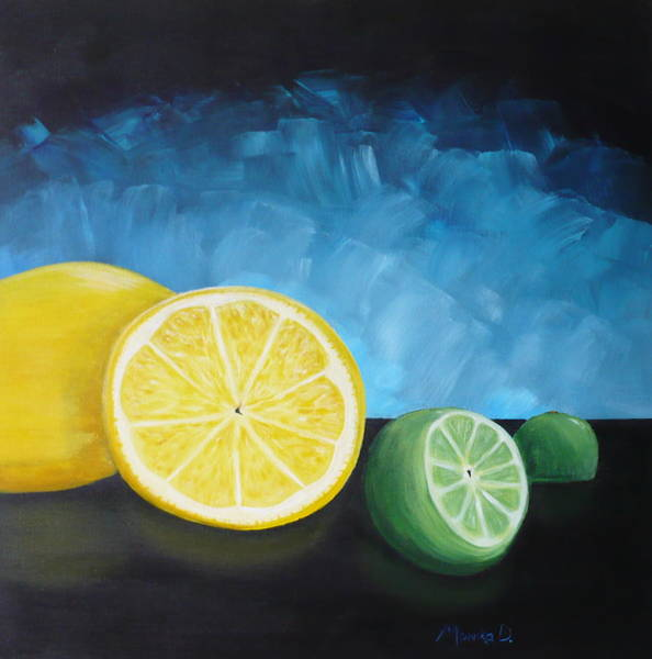 Painting - Lemon Lime by Monika Shepherdson