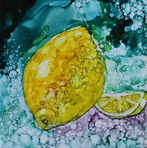 Painting - lemon/Lime by Ruth Kamenev