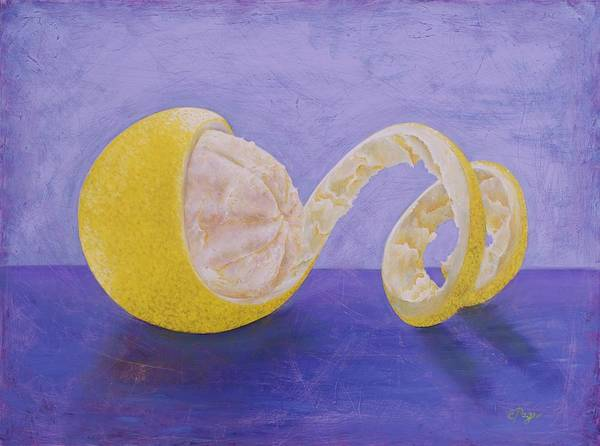 Painting - Lemon Peel Twist by Emily Page