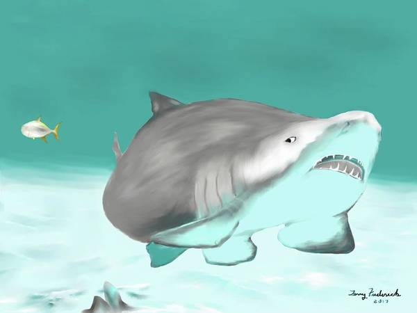 Digital Art - Lemon Shark by Terry Frederick