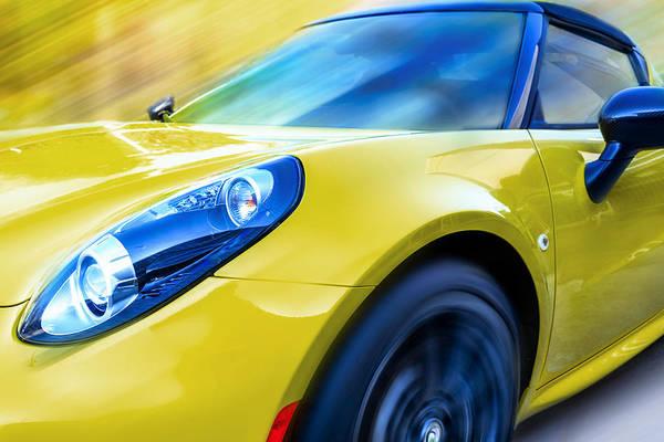 Carbon Fiber Photograph - Lemon Yellow by Larry Helms