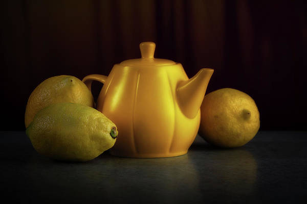 Citrus Fruit Photograph - Lemon Yellow by Tom Mc Nemar