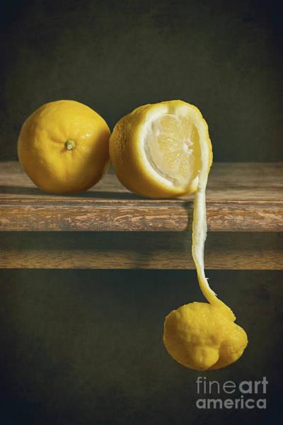 Peel Photograph - Lemons by Amanda Elwell