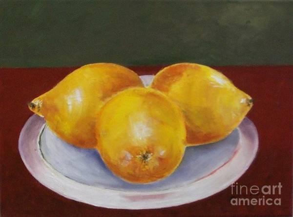 Painting - Lemons by Jeanie Watson
