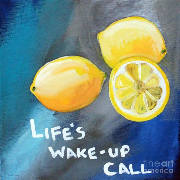Citrus Fruit Wall Art - Painting - Lemons by Linda Woods